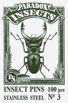 Insect Pins - Stainless Steel <b>No 3</b>, 100 pcs.